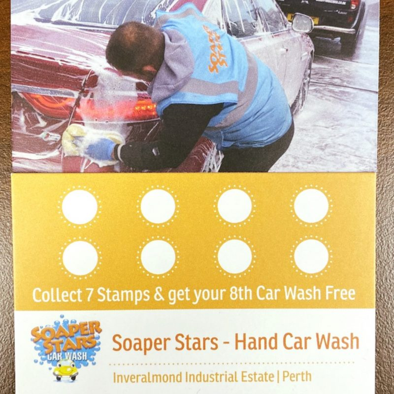Soaper Stars Loyalty Card