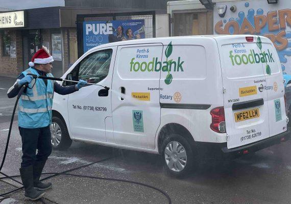 Soaper Stars Food Bank Donation